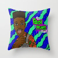 fresh prince Throw Pillows featuring Fresh Prince of Bel Air by The POP Factory