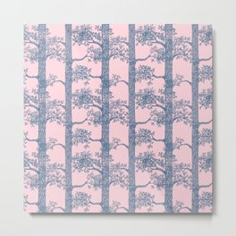 Pine Forest (Pink and Blue) Metal Print