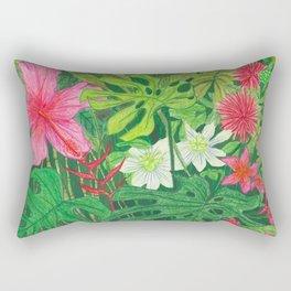 Hawaiian Garden Rectangular Pillow