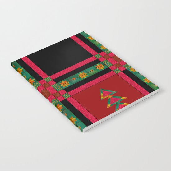 Christmas. Patchwork . Notebook
