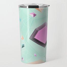 Fragmented Crystals Travel Mug