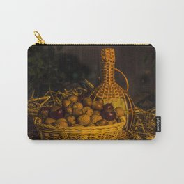 Still-life with nuts and wine Carry-All Pouch