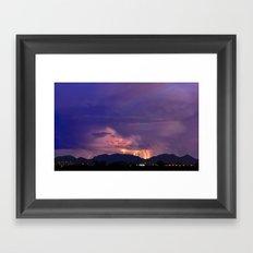 Arizona Monsoon Flame Framed Art Print