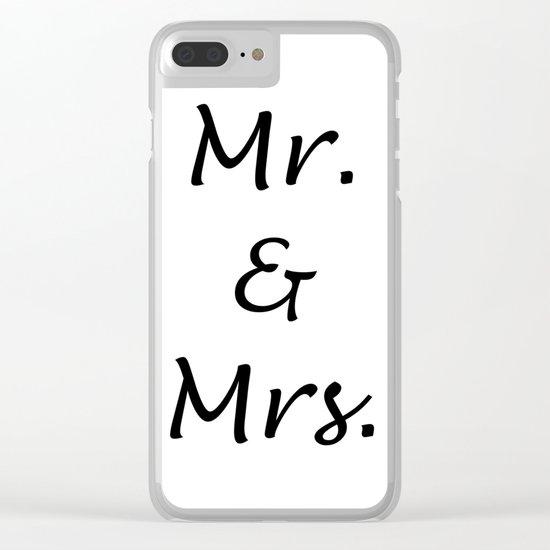 MR. & MRS. Clear iPhone Case