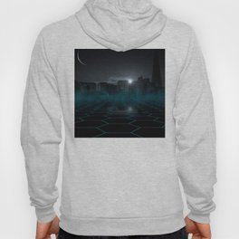 skyline night star sky moon sickle Hoody