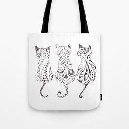 Trio of Cats Tote Bag