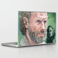 rick grimes Laptop & iPad Skins featuring Rick Grimes by Mark Satchwill Art