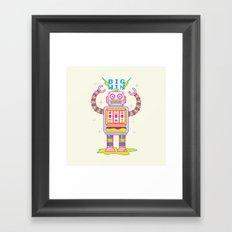 VEGASBOT 7000 Framed Art Print