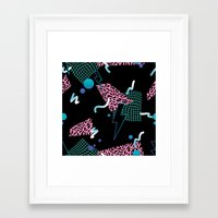 80s Framed Art Prints featuring 80s Zone by Julia Alison