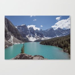 Lake Moraine Top View Canvas Print
