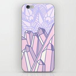 Crystals with Mandala 2 iPhone Skin