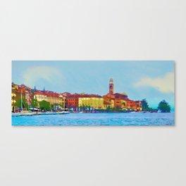 Lake Como at Sunset Canvas Print