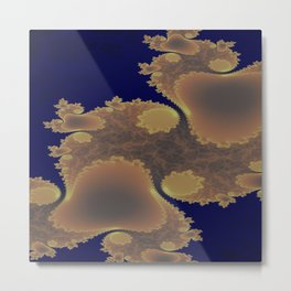 Pinkbrown(blue) Pattern 11 (Fractal) Metal Print