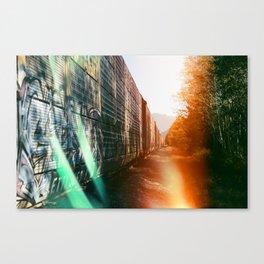Lightleak by Railroad Canvas Print