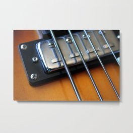 Bass Guitar Strings Metal Print