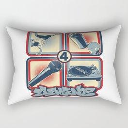 Four Elements of Hip Hop Rectangular Pillow