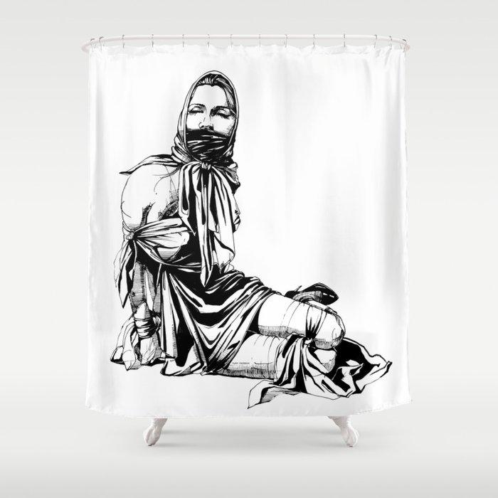 Silk Scarf Slave. Yury Fadeev© Shower Curtain
