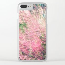 Pink Fairy (Muhly) Grass Clear iPhone Case