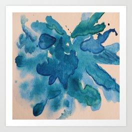 On The Blue Site Art Print