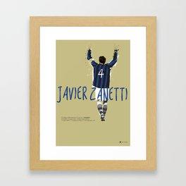 Javier FC Internazionale Milano / Serie A Superstar Football Player Framed Art Print