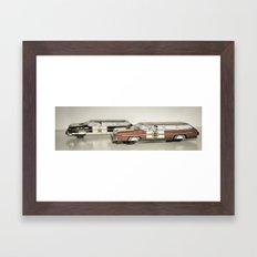 Chief&Police Car Tin Toy Framed Art Print