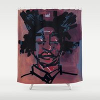 basquiat Shower Curtains featuring basquiat by joseph arruda (zeruch)