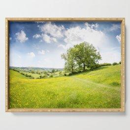 Idyllic Cotswold Summer Landscape Serving Tray