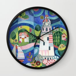 Island Lighthouse Wall Clock
