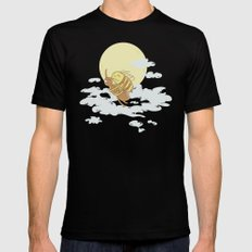 Together We Can Fly MEDIUM Black Mens Fitted Tee