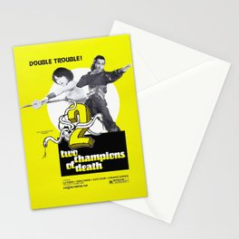 Vintage Film Poster- Two Champions of Death (1980) Stationery Cards