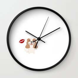 I Kissed A Cavalier King Charles And I Liked It Cute Dog Kiss Gift Idea Wall Clock