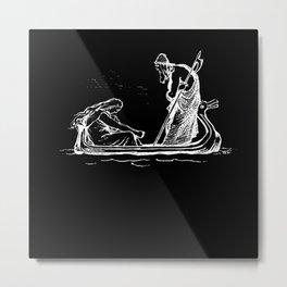 Norse Myth Frigg and Odin Sailing In Fensalir Metal Print