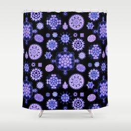 Ernst Haeckel - Melethallia (Purple) Shower Curtain