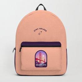 Golden Gate Bridge Badge in Peach Backpack