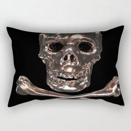 Golden Jolly Roger Rectangular Pillow