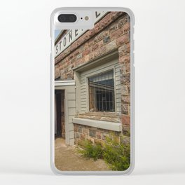 Stonewall Saloon, Regan, North Dakota 4 Clear iPhone Case