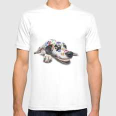 Spotted dog MEDIUM Mens Fitted Tee White