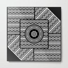 Wavy panels Metal Print