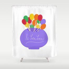 Lollipops (le bonbons) Shower Curtain