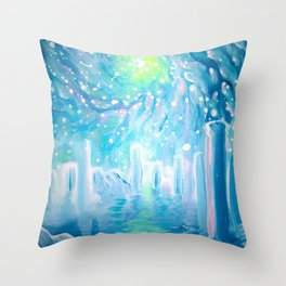 dreamscape with galaxy Throw Pillow