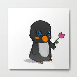 Penguin Love Metal Print