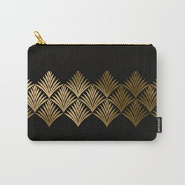 Reims, France: Luxueux Black and Gold Art Deco Carry-All Pouch