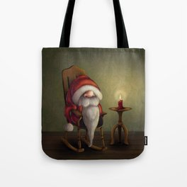 New edit: Little Santa in his rocking chair Tote Bag