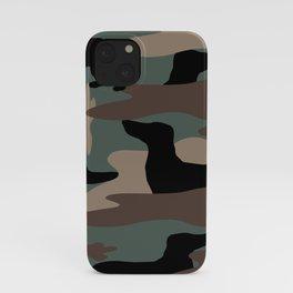 Camo Weiner Dogg iPhone Case