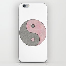 Yin Yang Esoteric Symbol Pastel Pink And Grey iPhone Skin