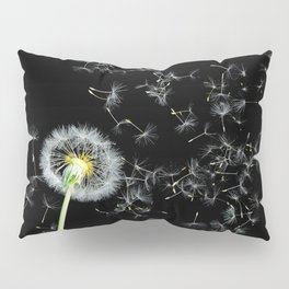 Blowing in the Wind Dandelion, Scanography Pillow Sham