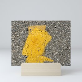 Urban Texture Photography - Yellow Road Markings Mini Art Print
