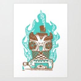 Good to the Last Drop - Chocqua Owl Art Print
