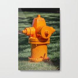 Orange Waterous Pacer WB67-250 High Pressure Fire Hydrant Fire Plug  Metal Print