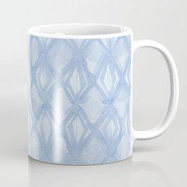 Braided Diamond Sky Blue on Lunar Gray Coffee Mug